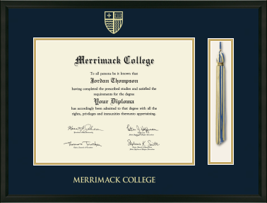 Tassel Edition Diploma Frame in Omega with Navy & Gold Mats