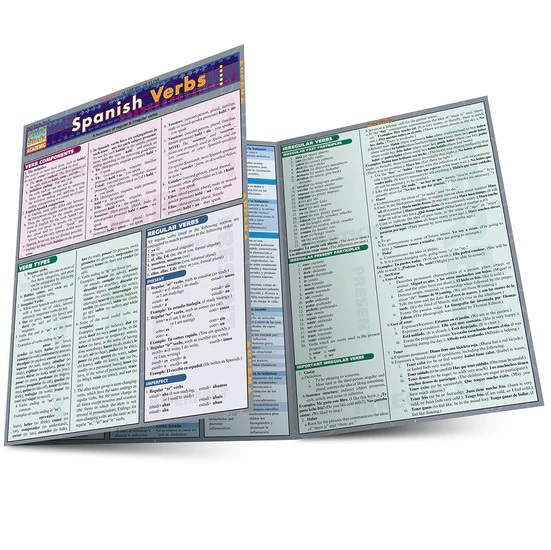 QuickStudy Spanish Verbs Laminated Study Guide