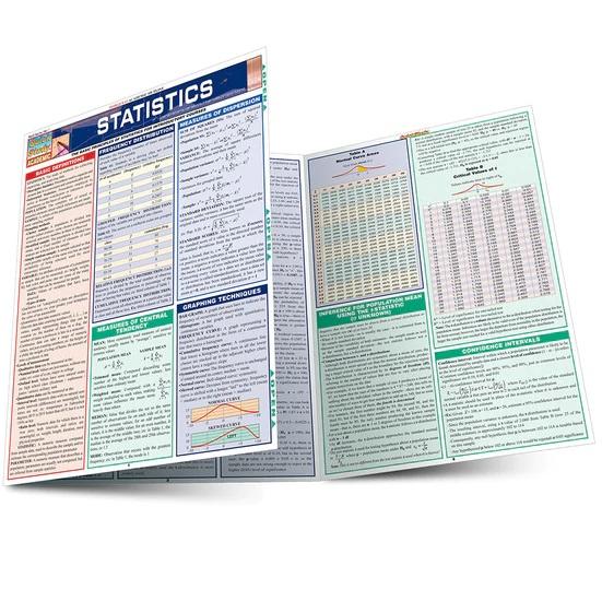 QuickStudy Statistics Laminated Study Guide