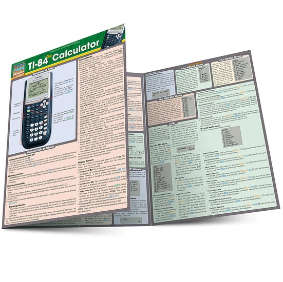 QuickStudy TI-84 Plus Calculator Laminated Reference Guide