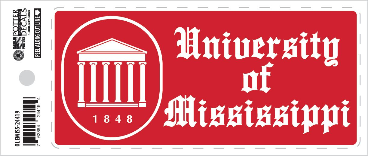 University of Mississippi Academic Bumper Sticker
