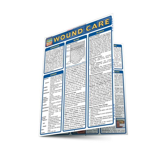 QuickStudy Wound Care Laminated Reference Guide