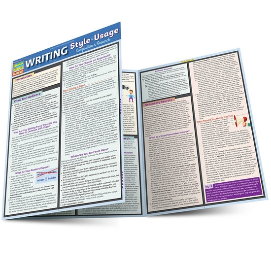 QuickStudy | Writing Style & Usage Guide: Composition Laminated Reference Guide