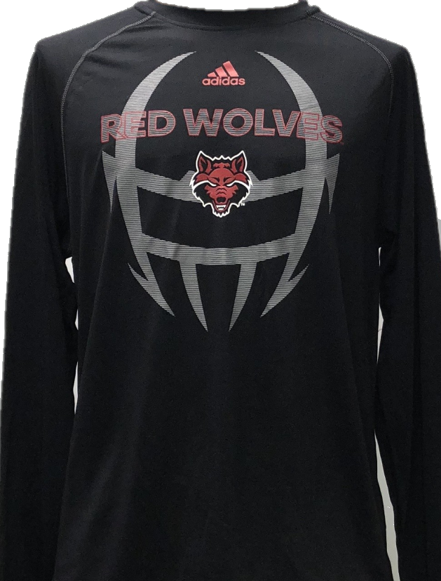Arkansas State Football L/S Climalite Tee