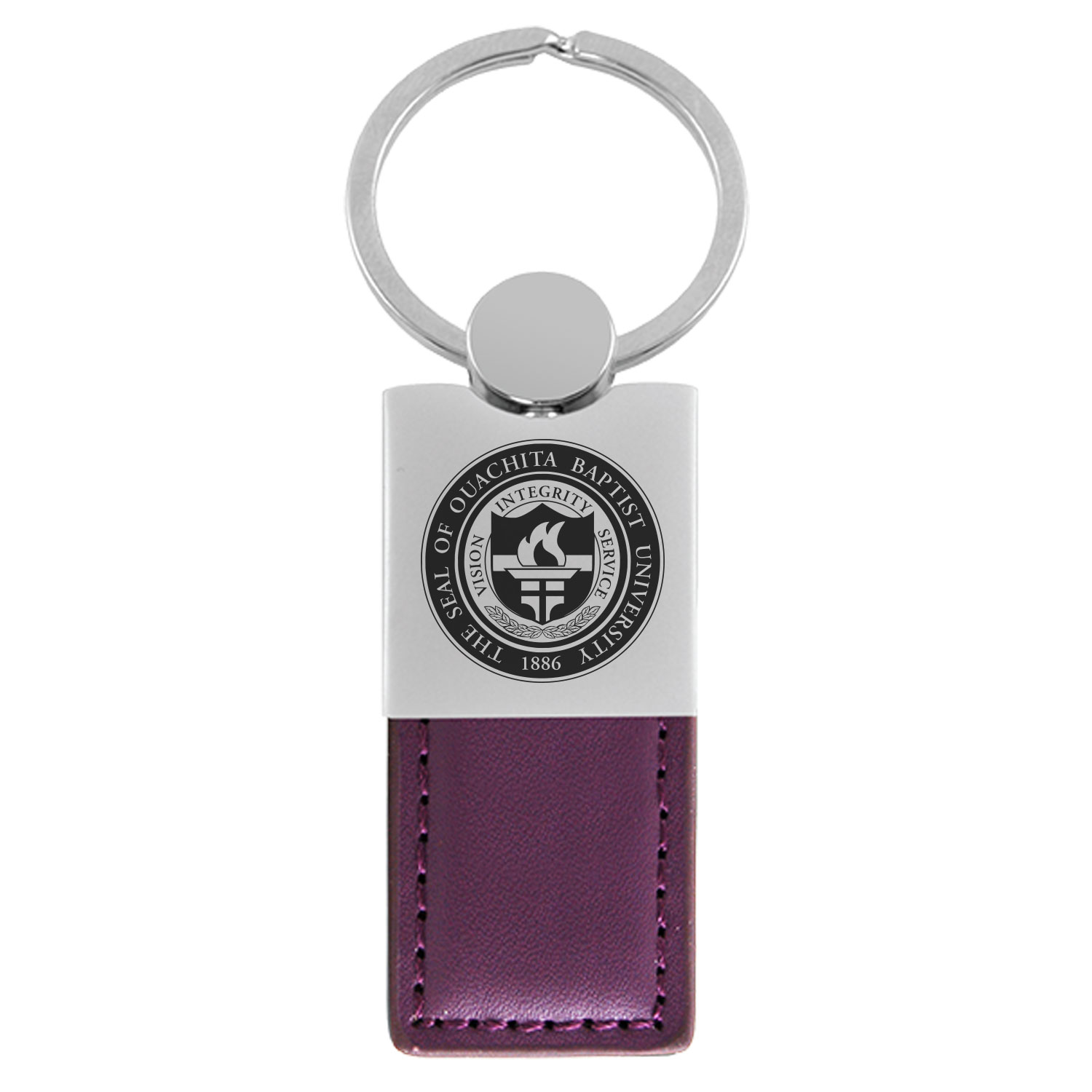 OUACHITA SEAL LEATHER KEY TAG
