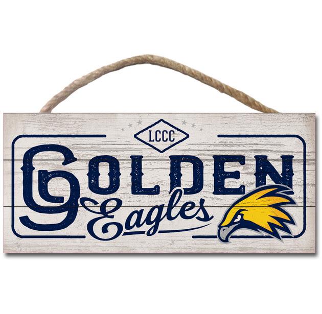 Golden Eagles Wood Plank Hanging Sign