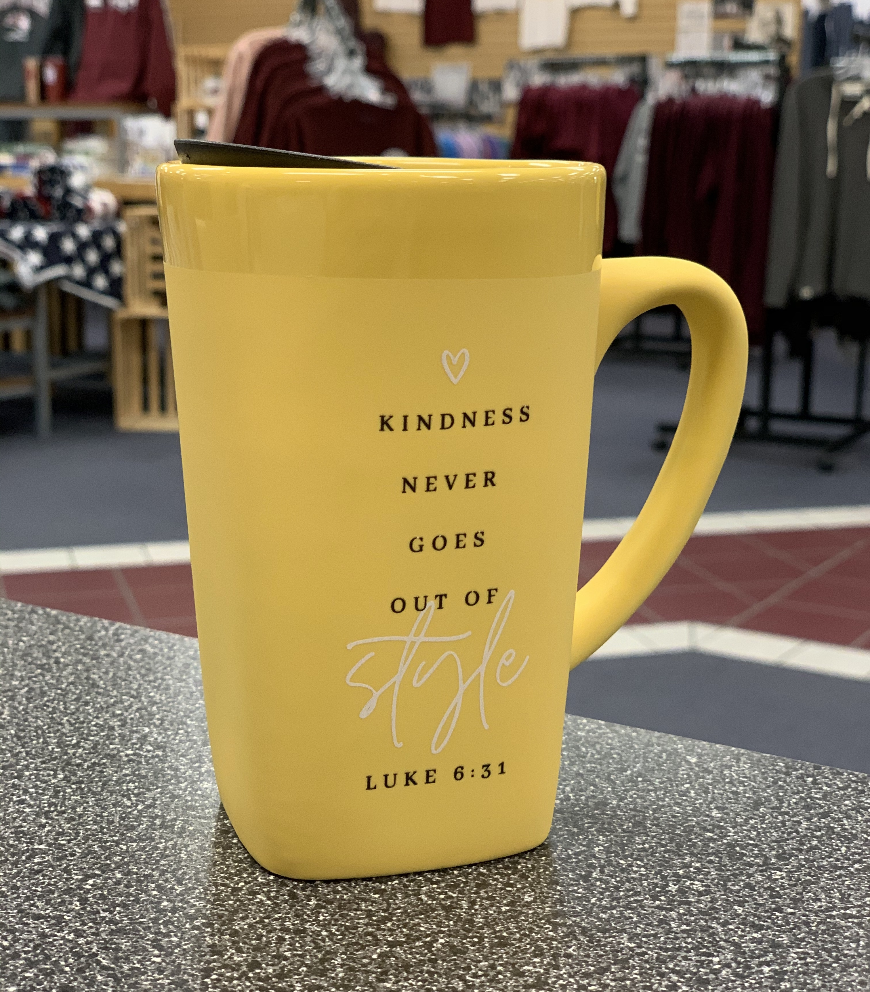 Kindness Ceramic Mug W/ Lid