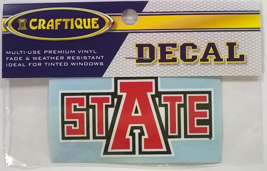"Arkansas State 4"" Auto Decal"