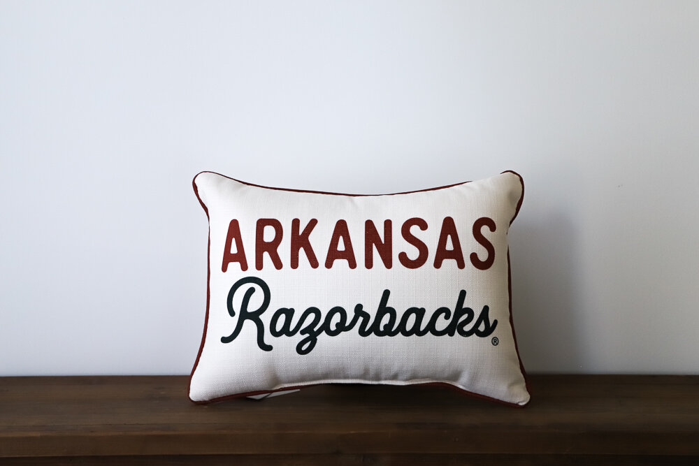 Arkansas Razorback Heritage Throw Pillow
