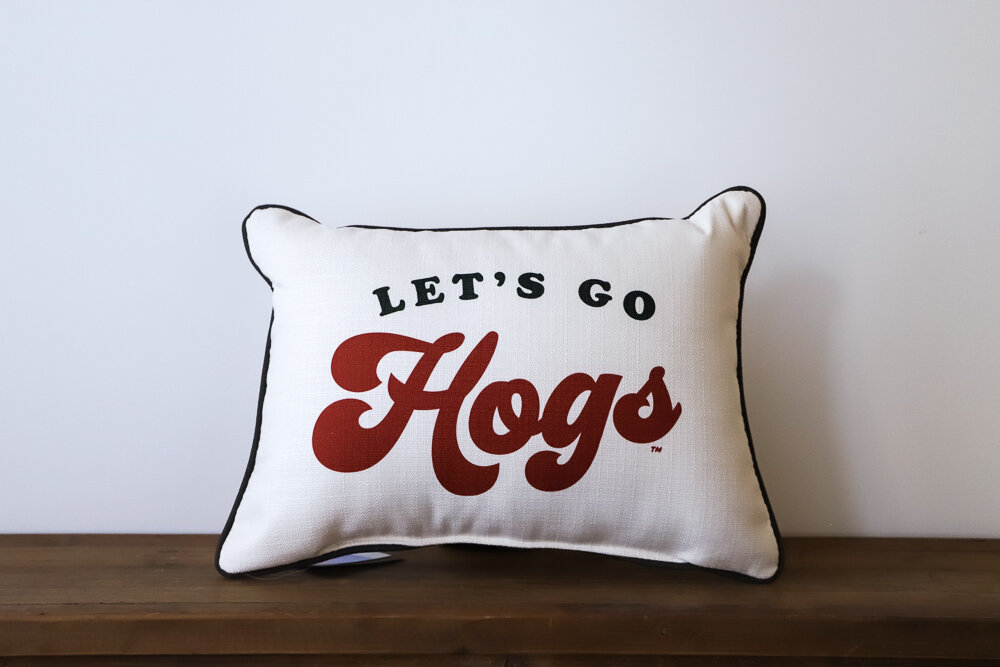 Let's Go Hogs Throw Pillow