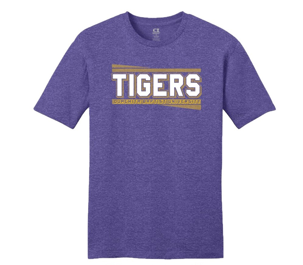 TIGERS HEATHERED SS ZOOMIE TEE