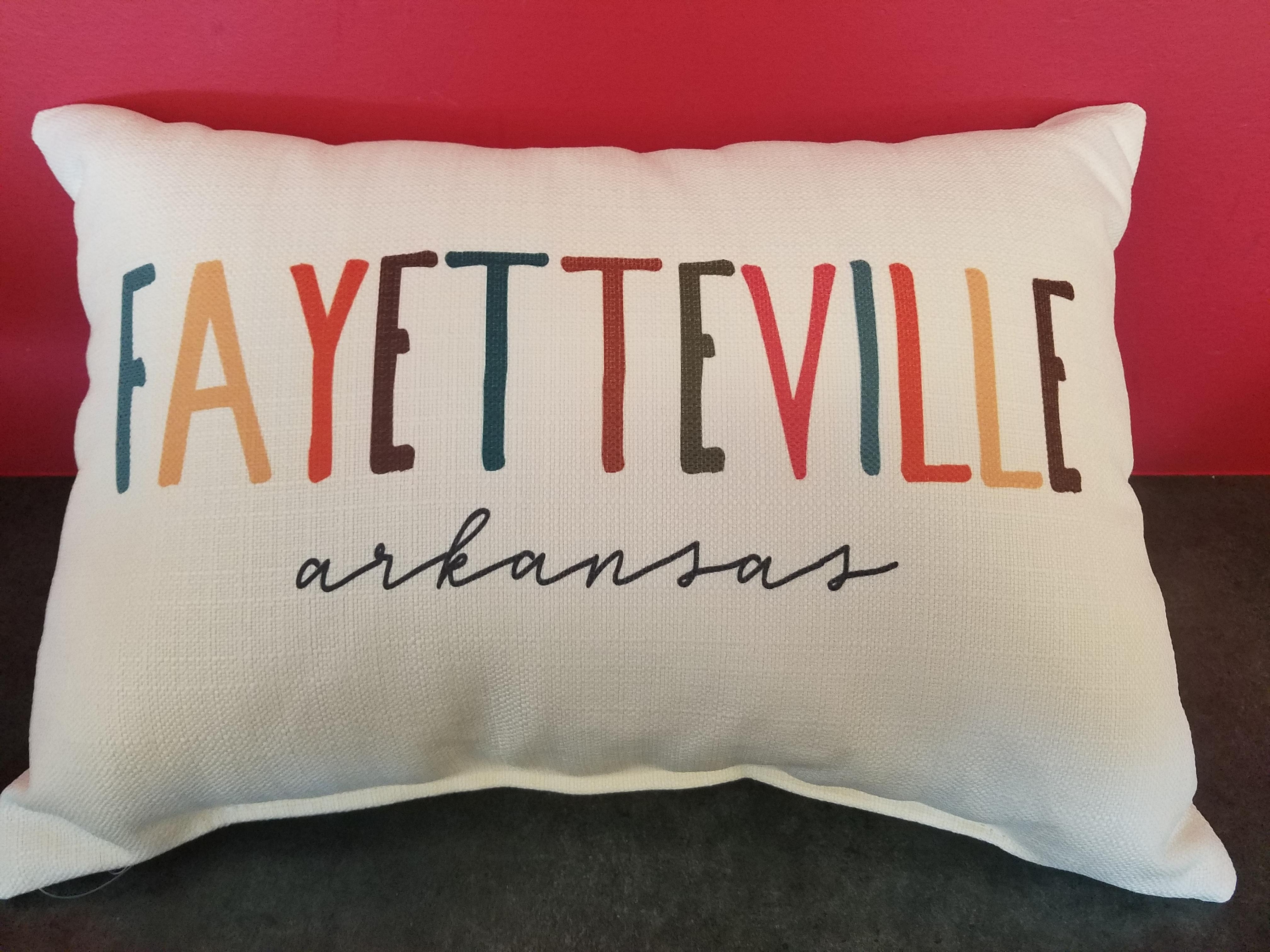 Songbird Fayetteville AR Throw Pillow
