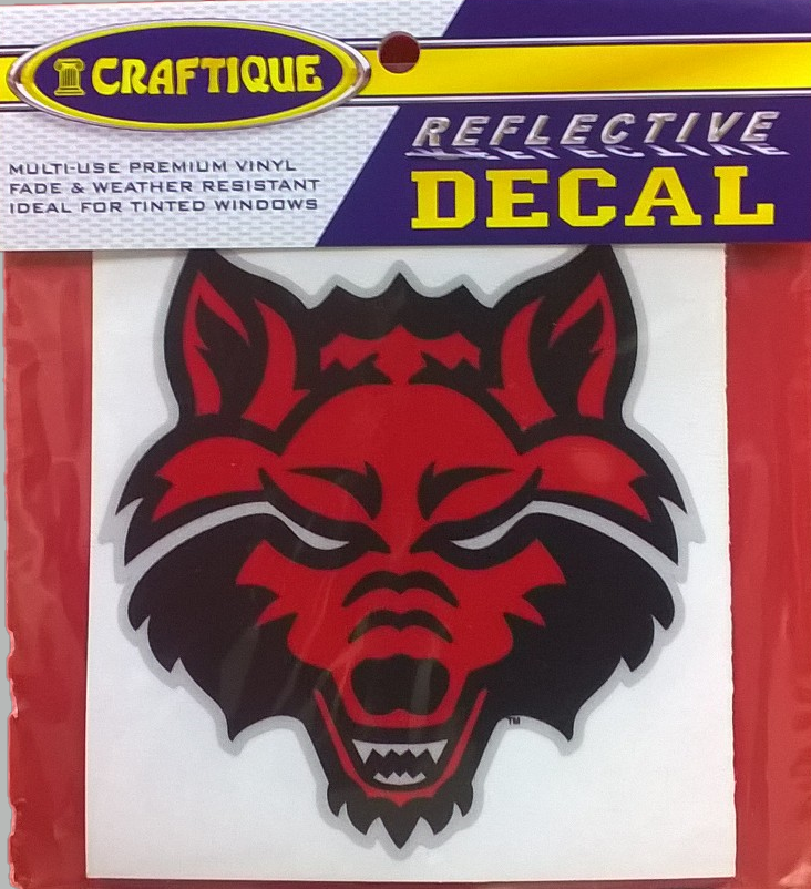 "Red Wolves Reflective 4"" Decal"