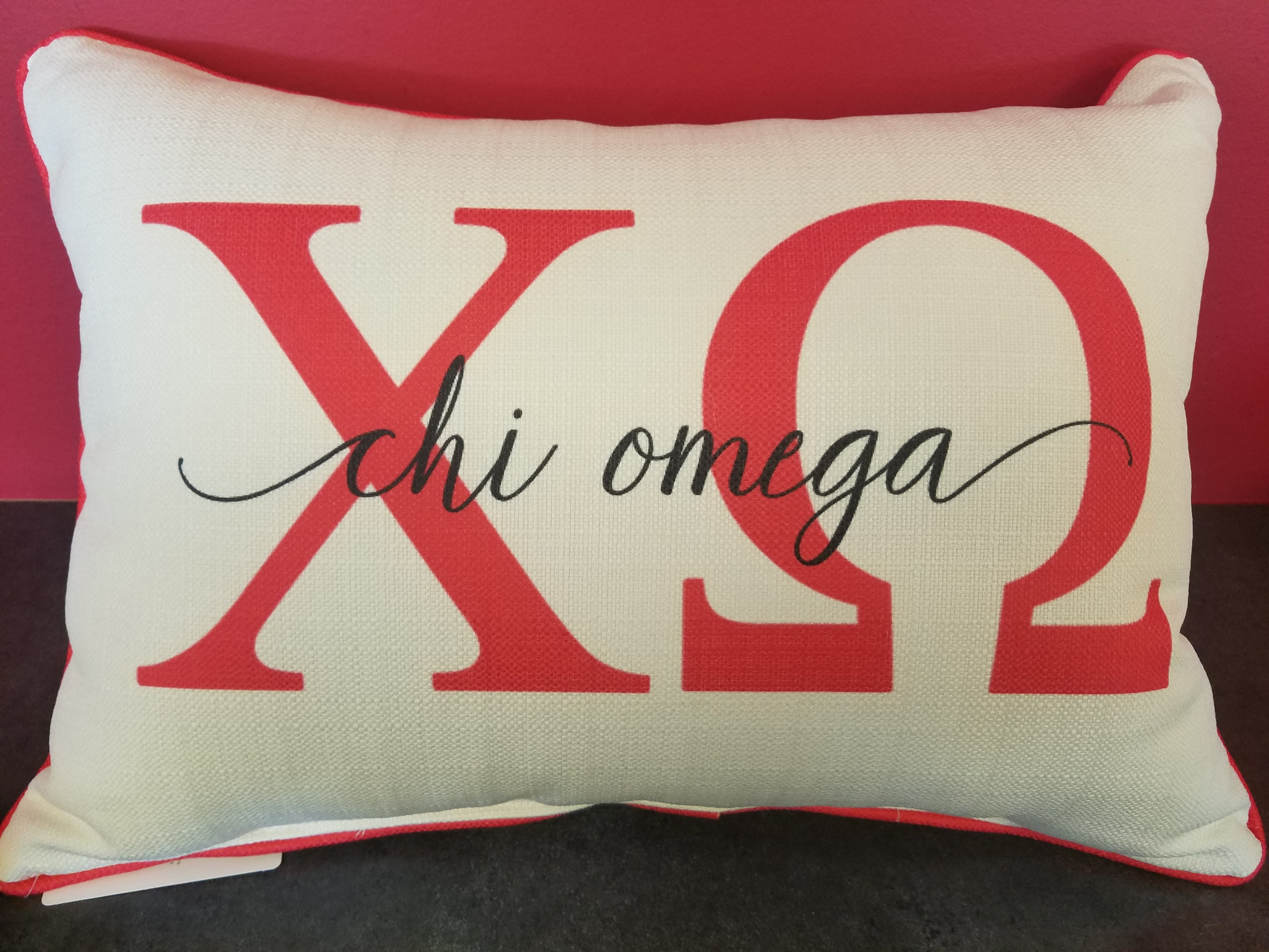 Large Sorority Letters Throw Pillow