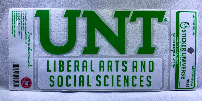 COLLEGE OF LIBERAL ARTS AND SOCIAL SCIENCES DECAL