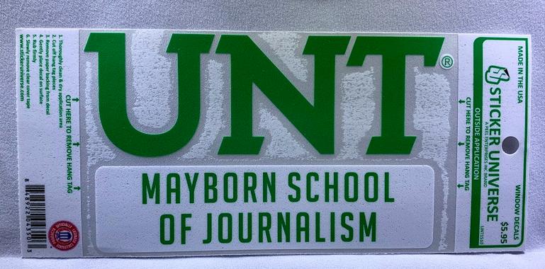 MAYBORN SCHOOL OF JOURNALISM DECAL