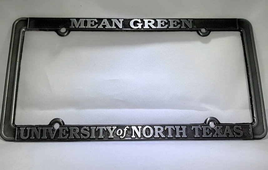 PEWTER LICENSE PLATE FRAME