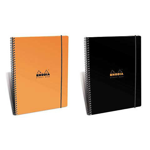 "Rhodia Wire Notebook Orange 8.8"" x 11.7"""