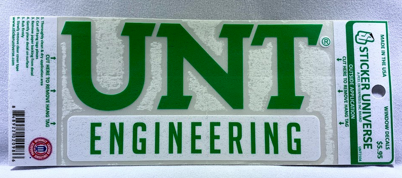 COLLEGE OF ENGINEERING DECAL