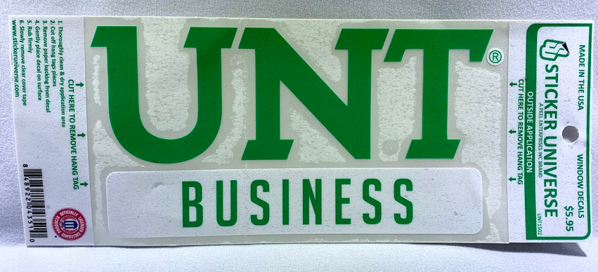COLLEGE OF BUSINESS DECAL