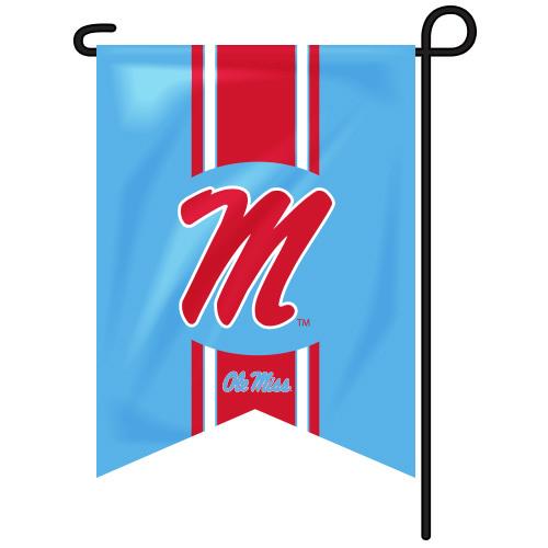 Vintage Ole Miss Garden Flag