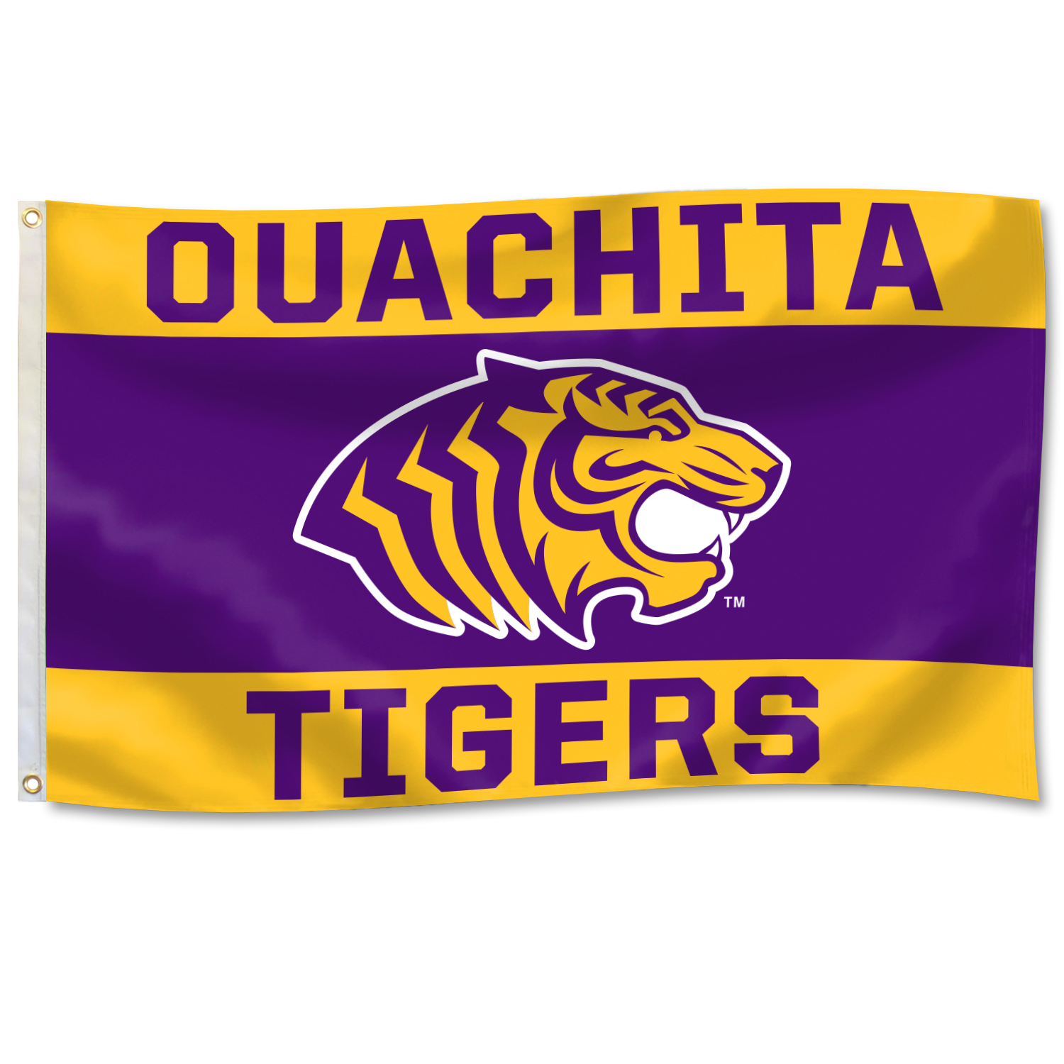 OUACHITA TIGERS 3'X5' DURAWAVE FLAG