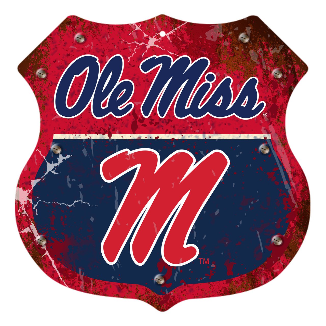 Ole Miss Metal Route Sign 12in