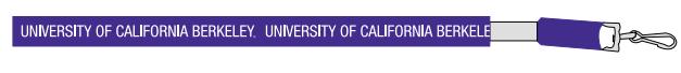 "University of California Berkeley 3/8"" Lace Lanyard"