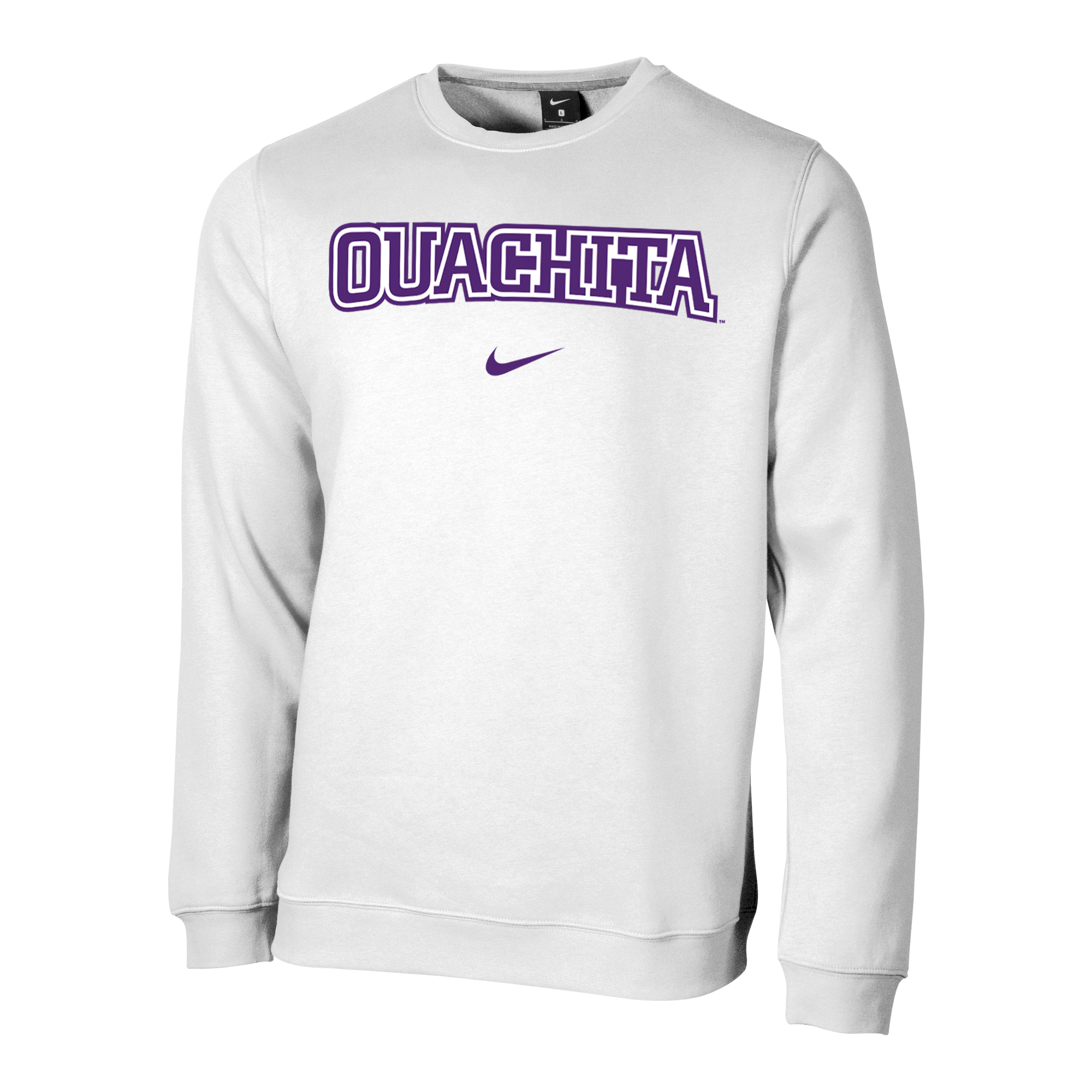 OUACHITA NIKE CLUB FLEECE CREW SWEATSHIRT