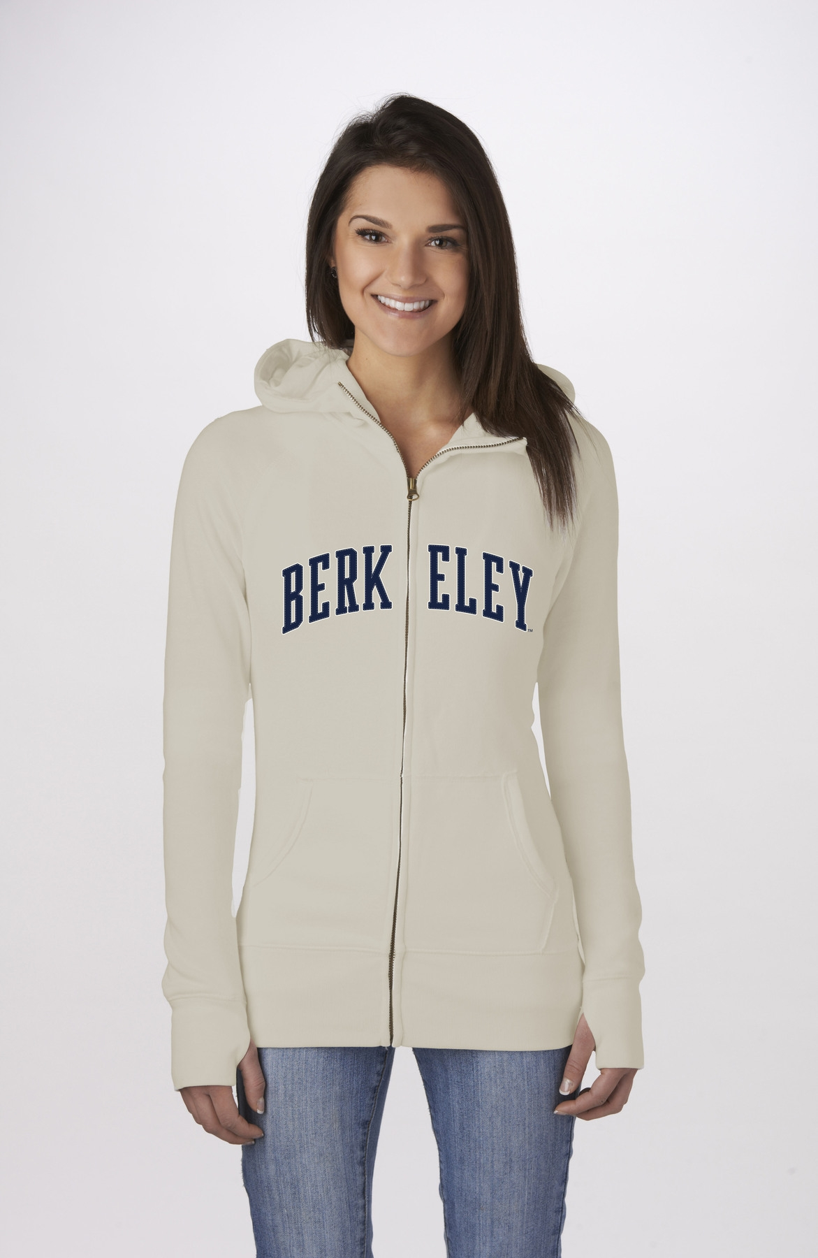 University of California Berkeley Women's Classic Full Zip Cal Logo by Campus Crew
