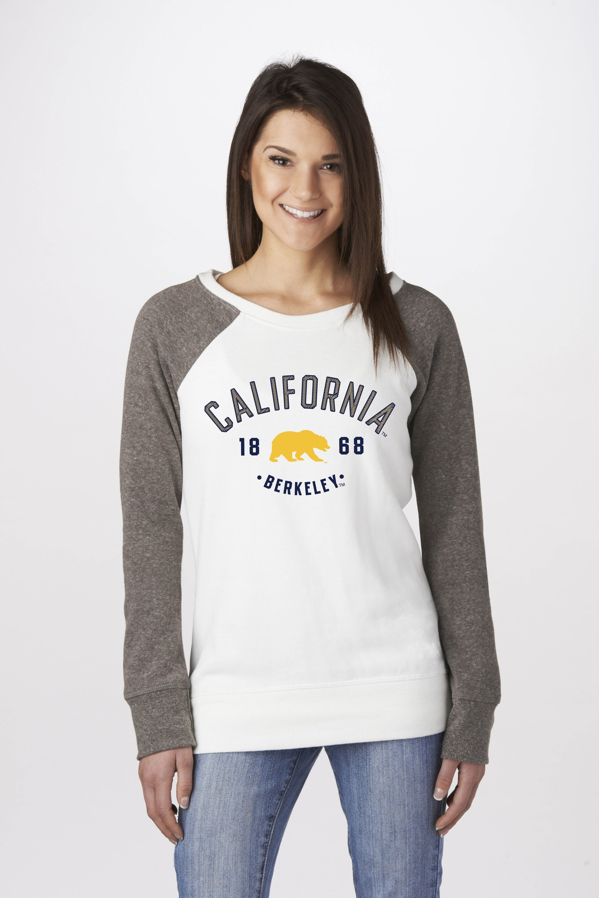 University of California Berkeley Women's Color Block Crew by Campus Crew