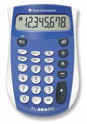 TI-503 SV Pocket Sized Basic Calculator