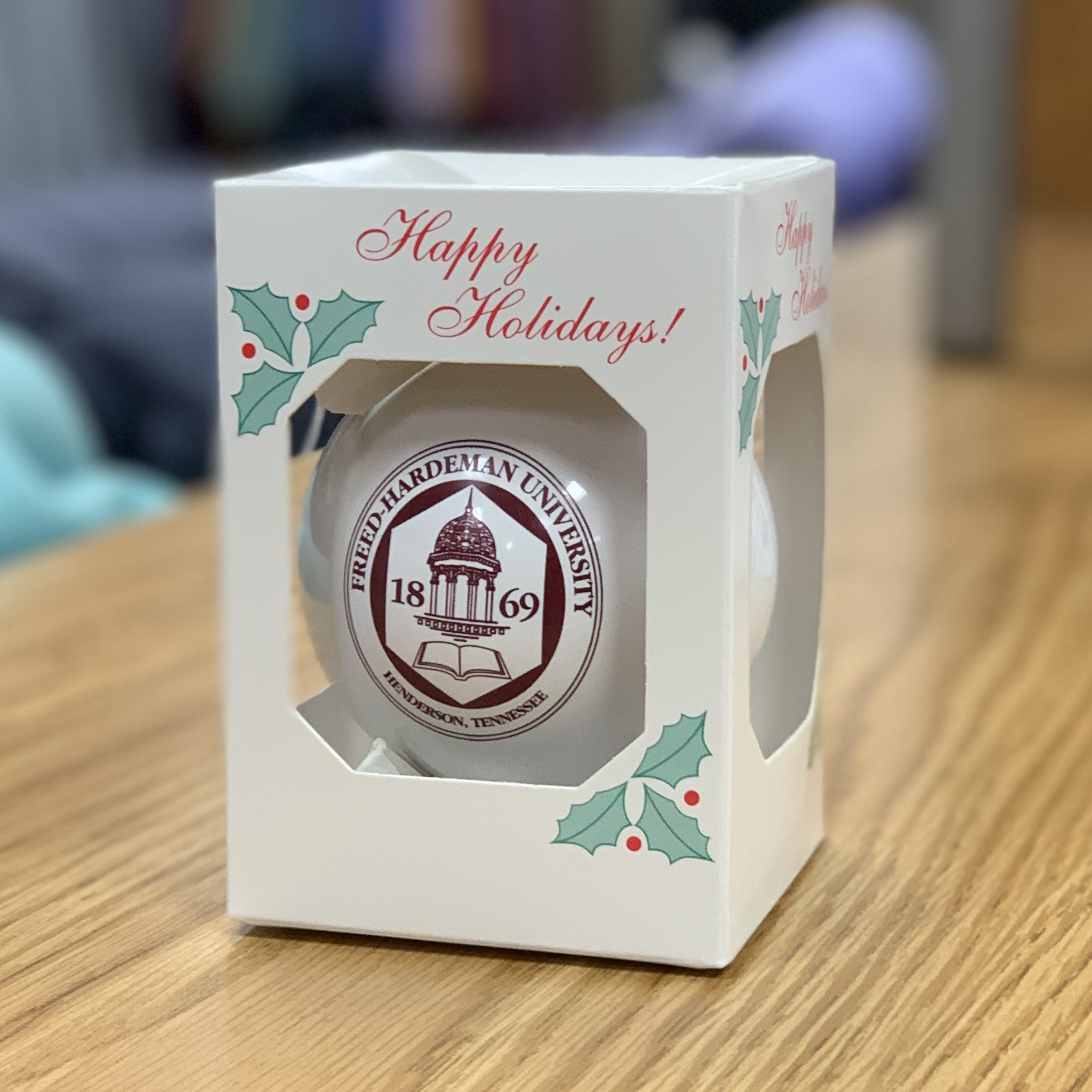 FHU Belltower Christmas Ornament