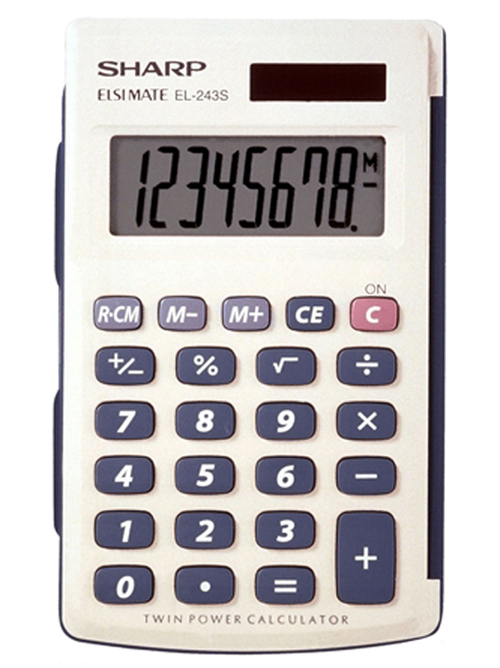 Sharp EL-243SB Solar Pocket Calculator