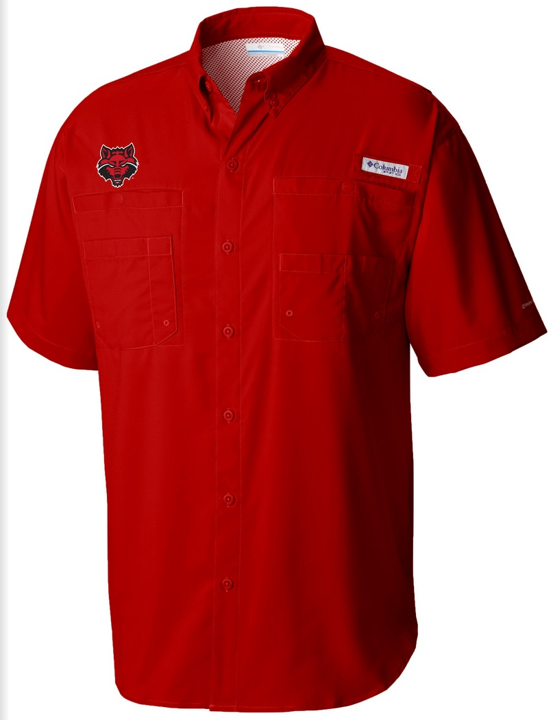 Red Wolves PFG Tamiami SS Shirt