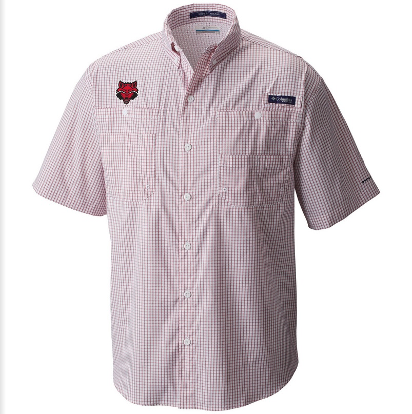 Red Wolves PFG Super Tamiami SS Shirt