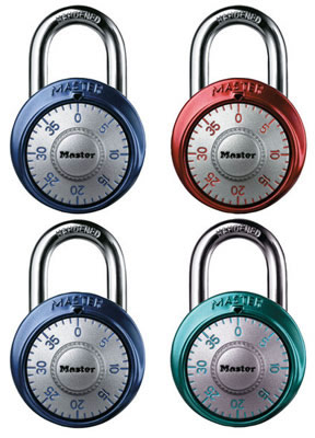 MasterLock Anodized Color Combination Lock