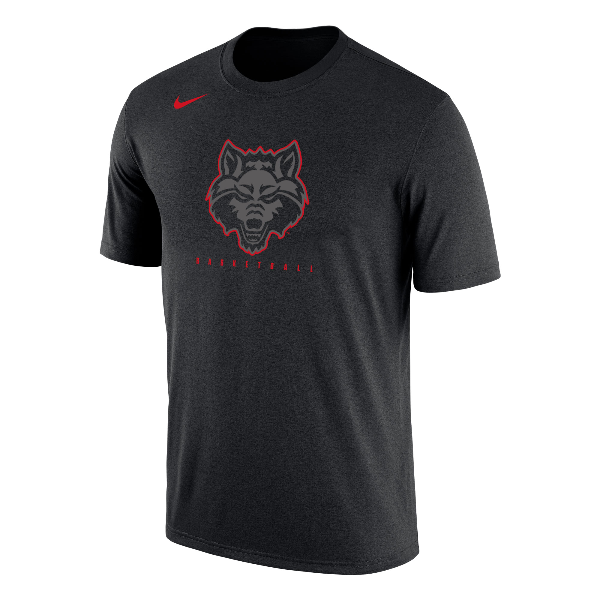 Red Wolves Basketball Dri-Fit Cotton SS Tee