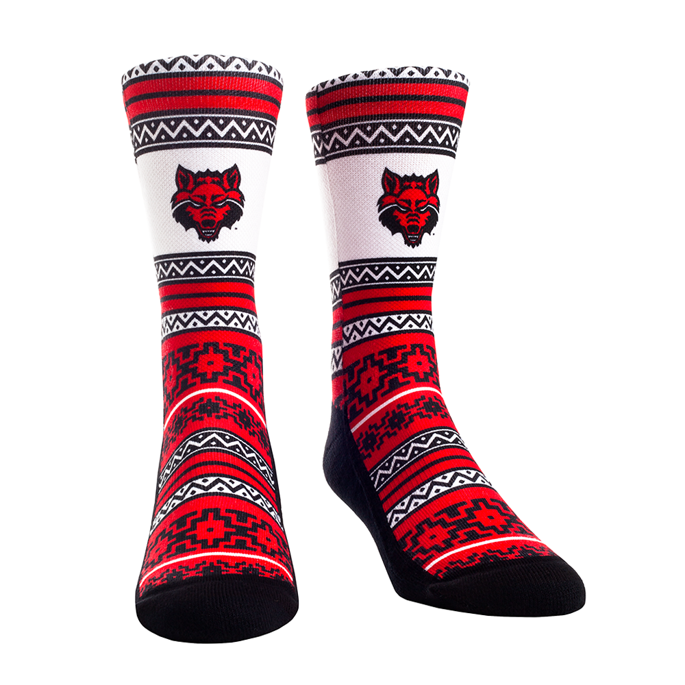 Arkansas State Geo Shapes Socks