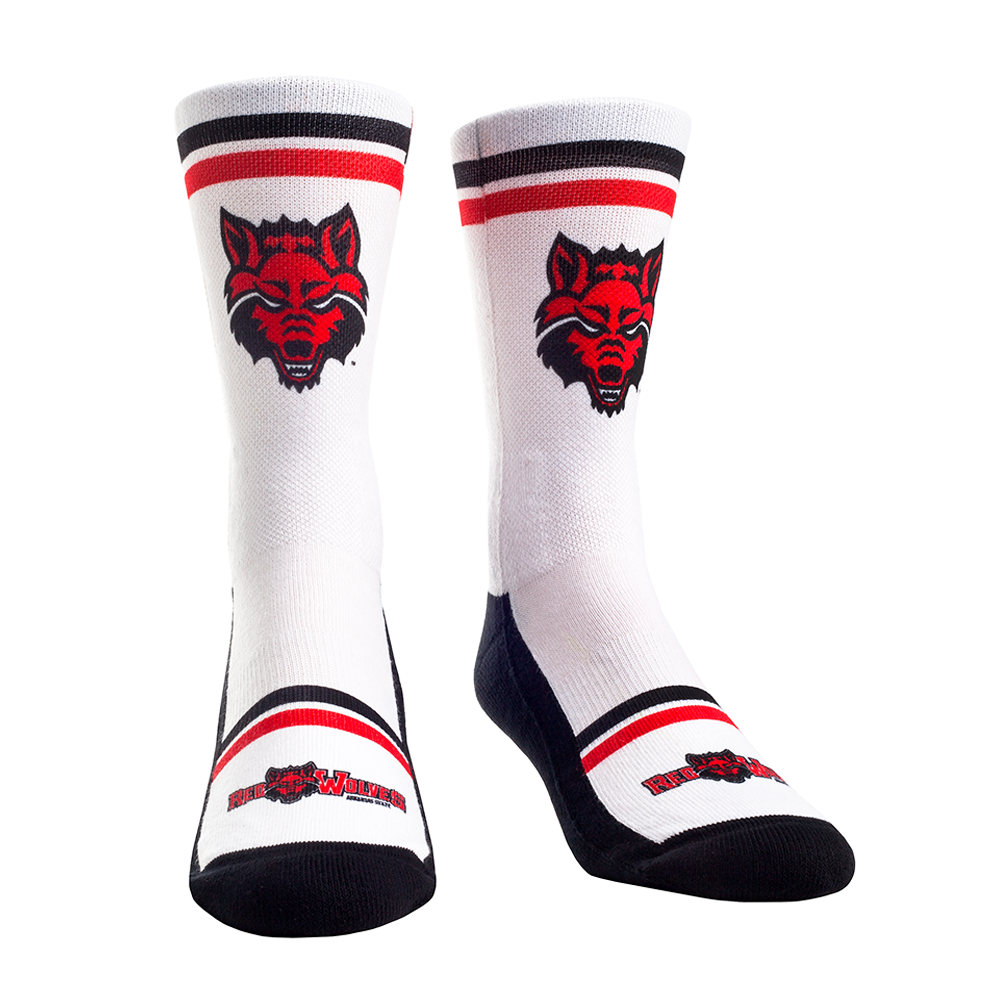 Arkansas State Double Stripe Socks