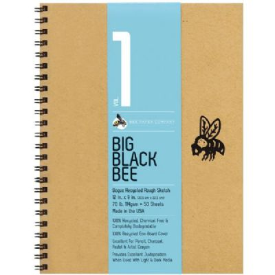 Big Black Bee Brown Tone Pad 9x12