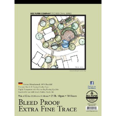 Bleed Proof Extra Fine Trace Pad 9x12