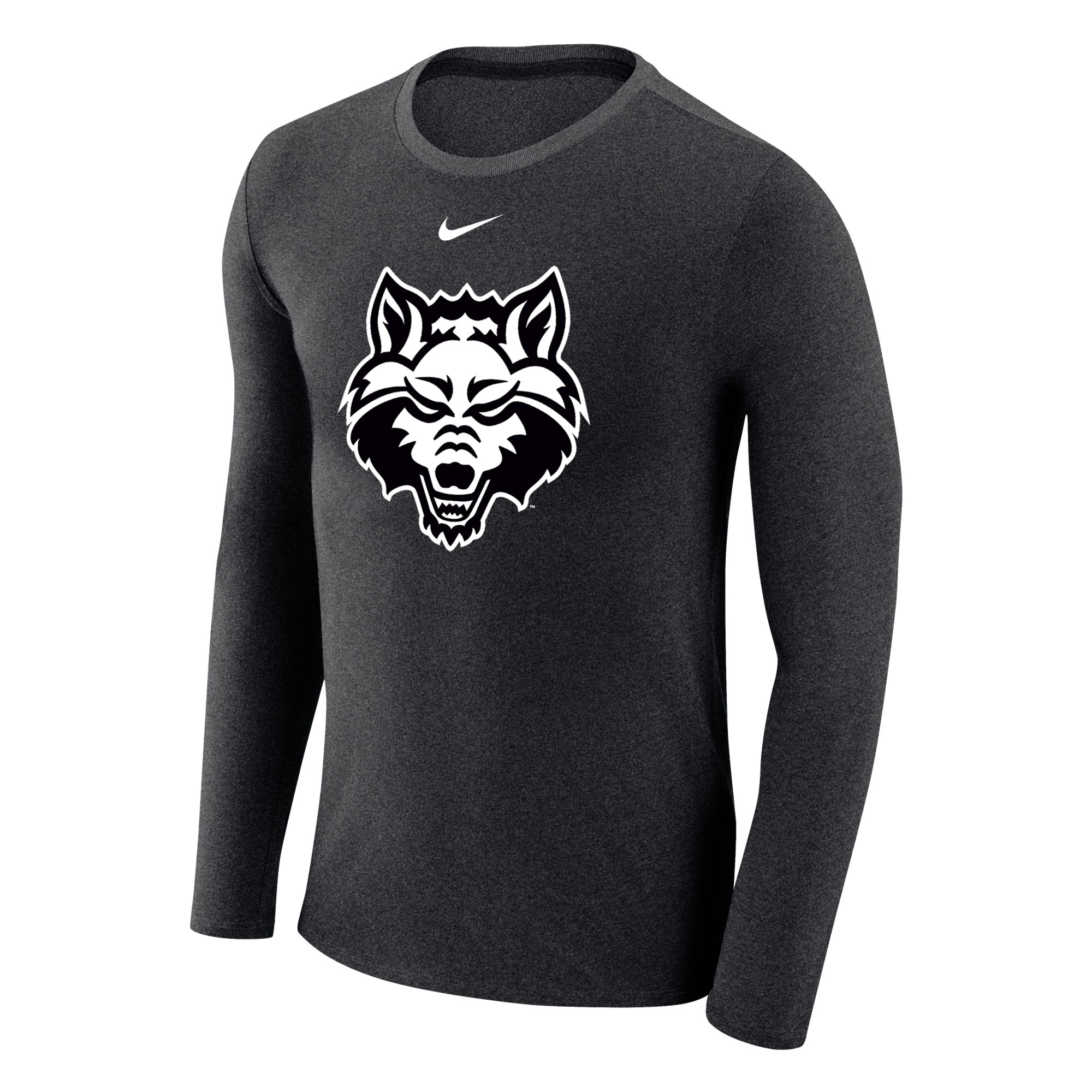 Red Wolves Marled LS Tee