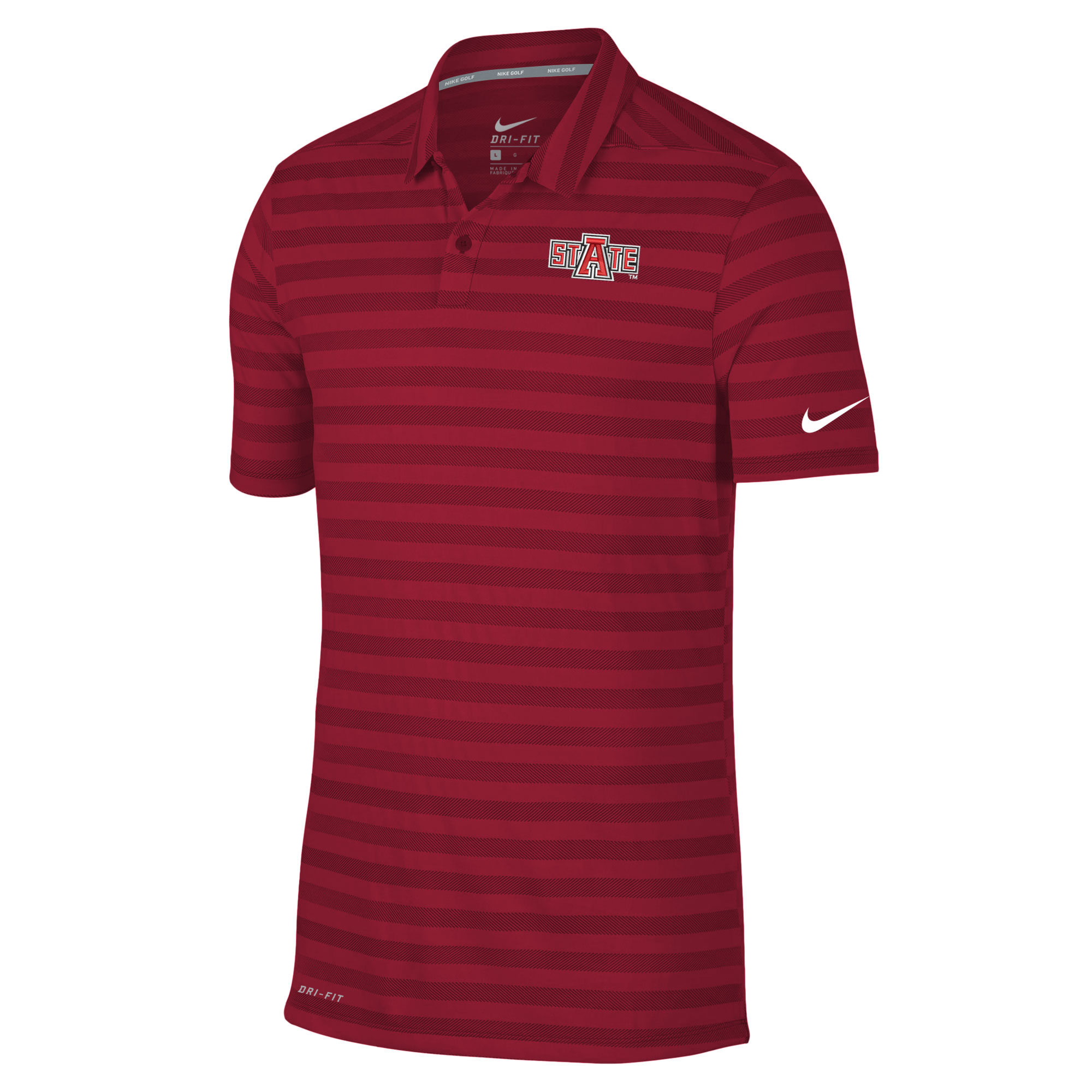 Arkansas State Dry Stripe Polo
