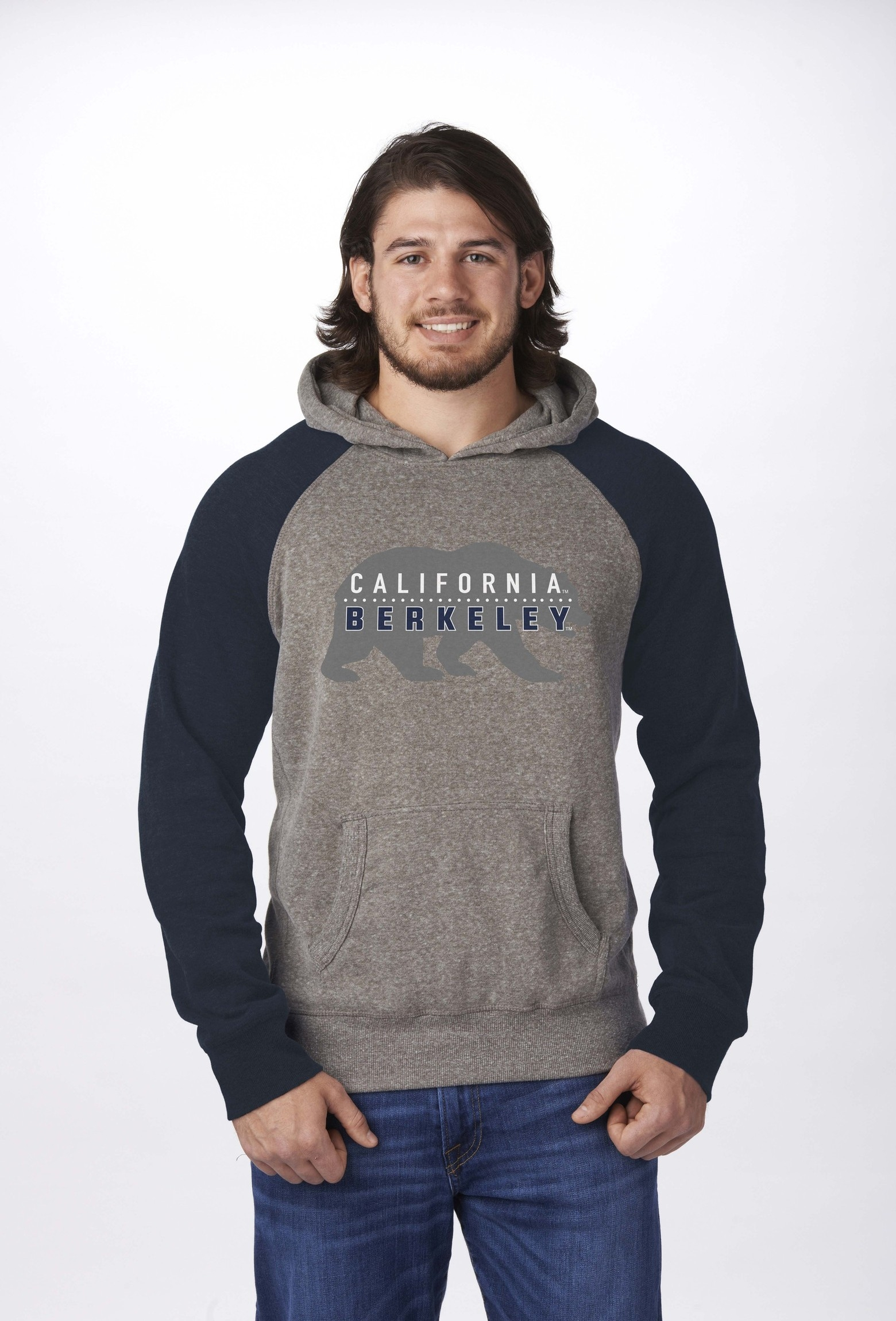 University of California Berkeley Color Block Hood by Campus Crew