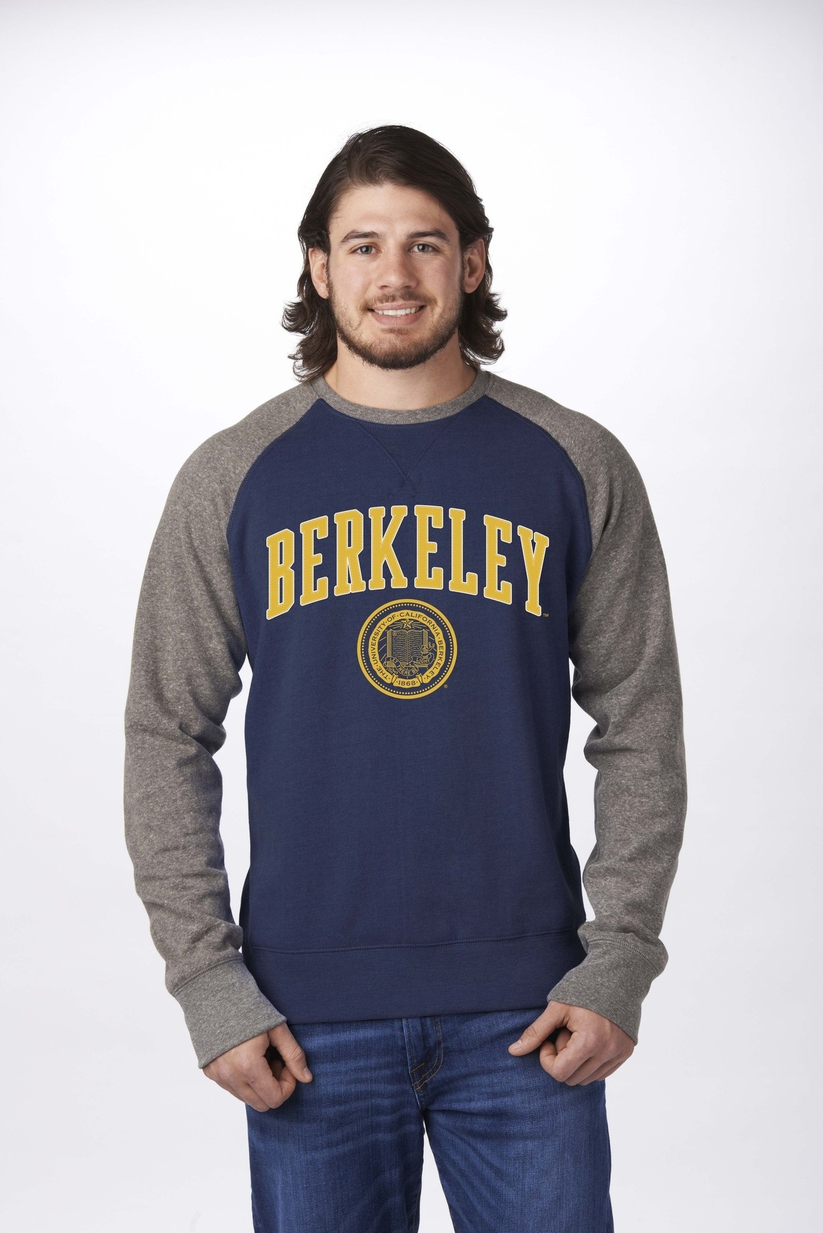 University of California Berkeley Color Block Crew by Campus Crew