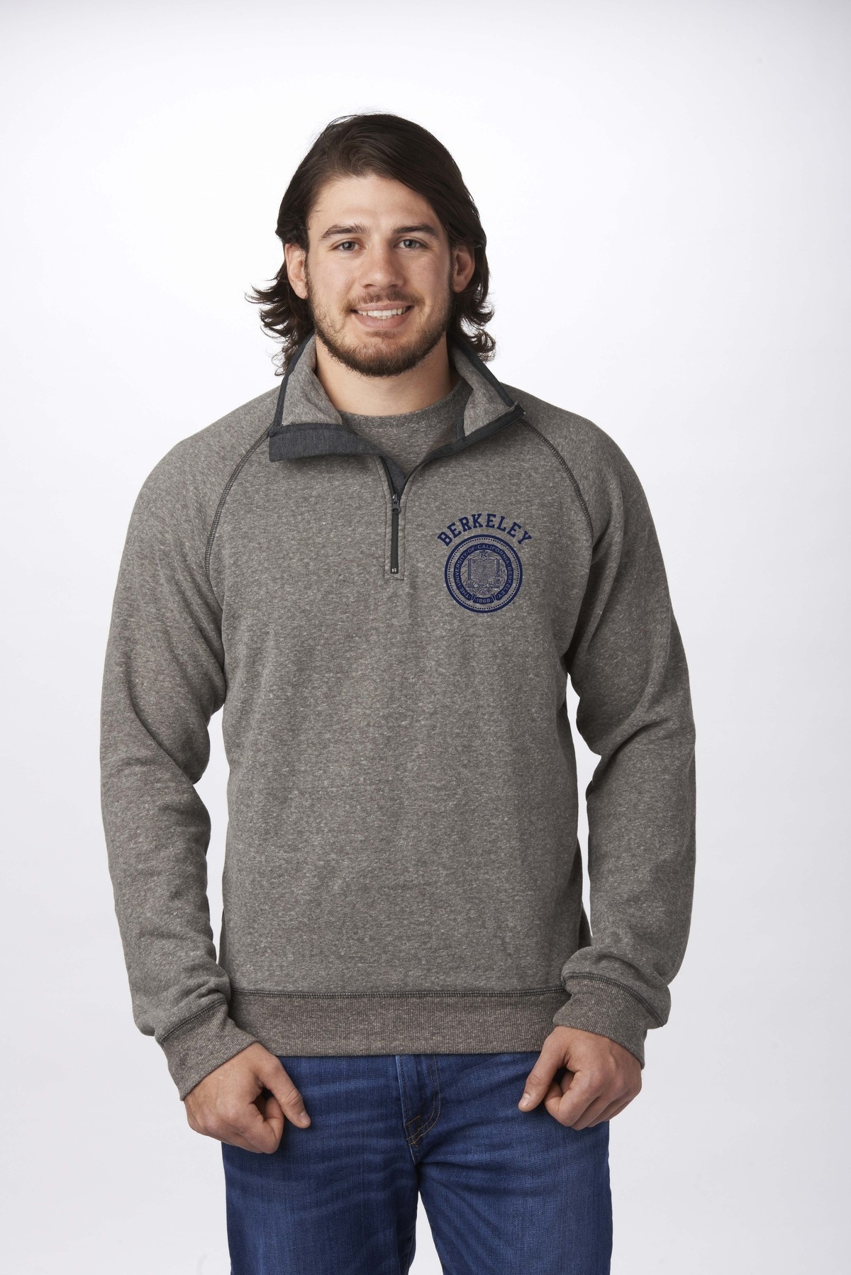 University of California Berkeley 1/4 Zip Mock by Campus Crew