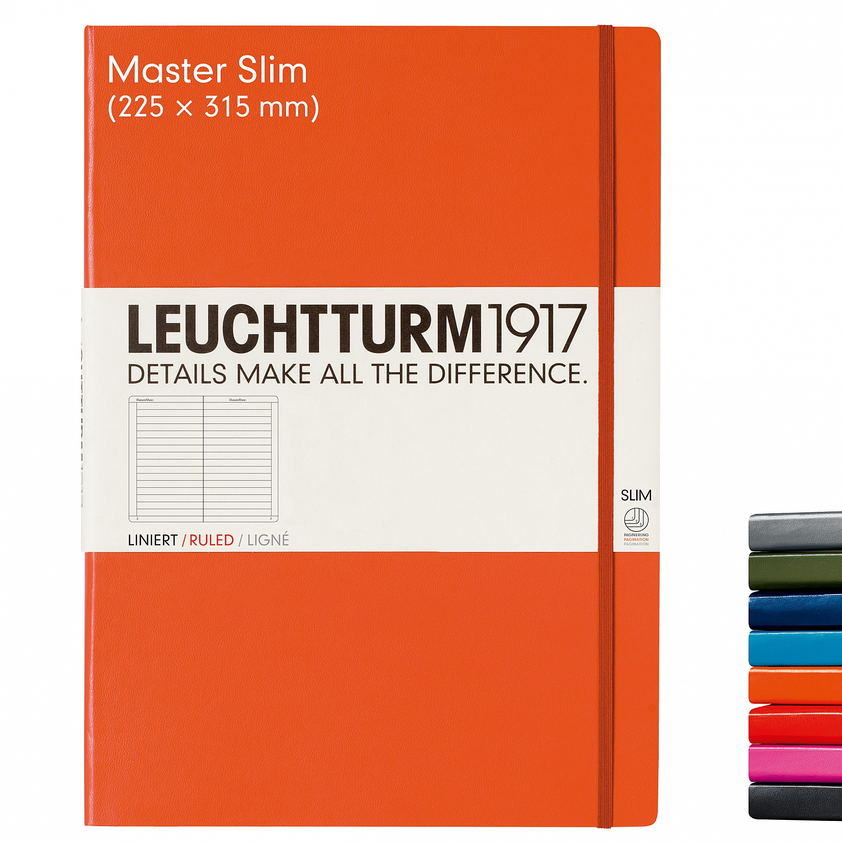 Master Slim 121 Paged Notebook