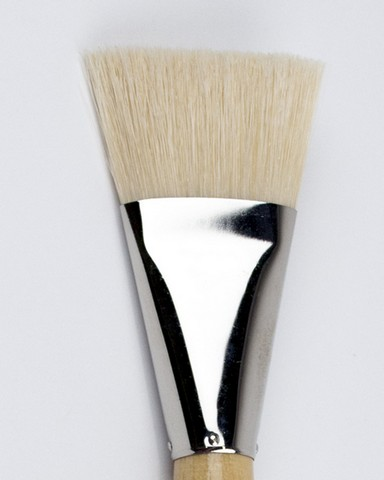 Silver Jumbo White Hog Bristle Brushes