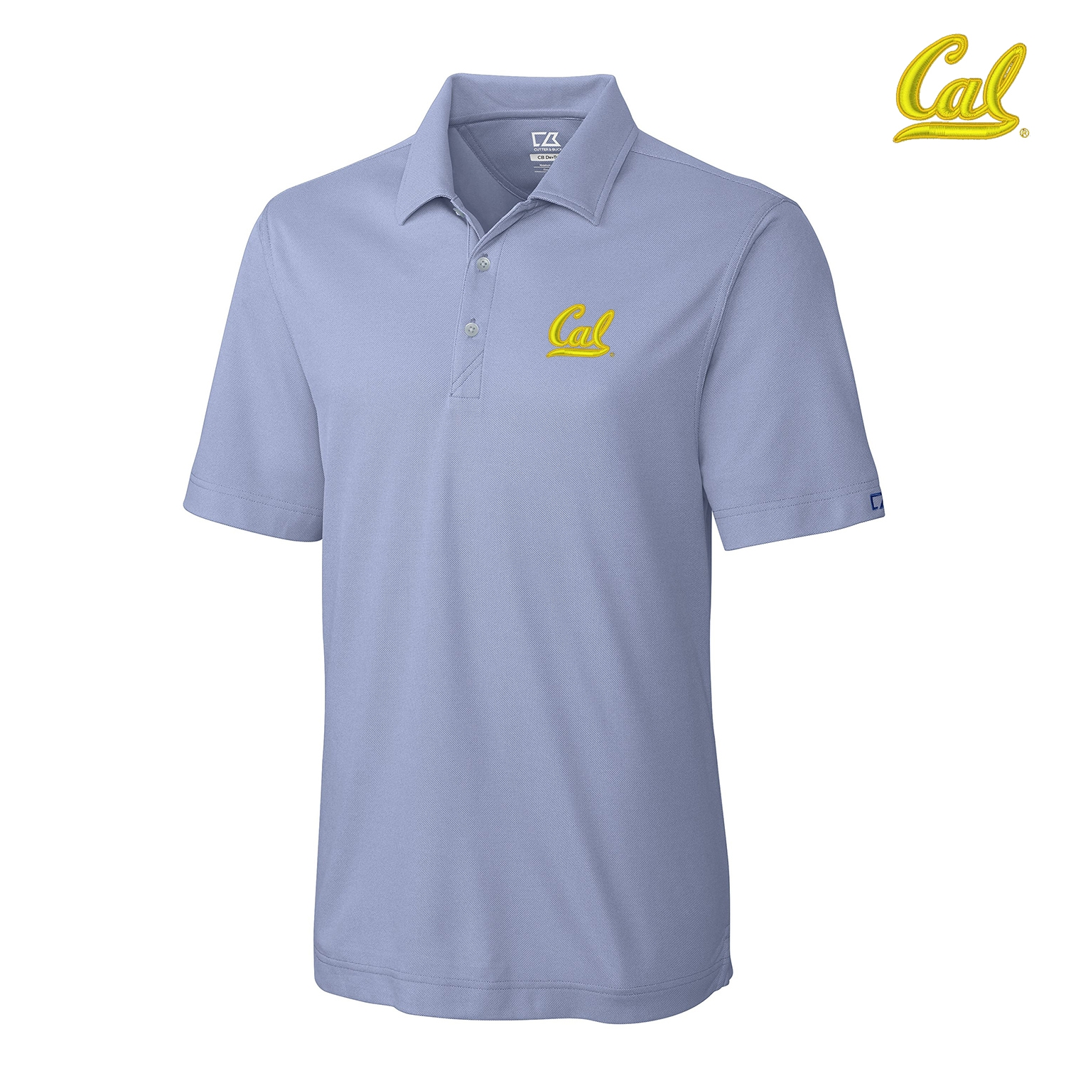 University of California Berkeley CB Drytec Blaine Oxford Polo by Cutter and Buck